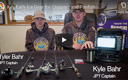 Key early ice gear for crappies and panfish [video]