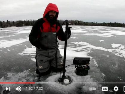 Using the Humminbird 360 while ice fishing for basin crappies