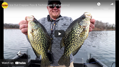 Early spring ice-out crappie tips and techniques [video]